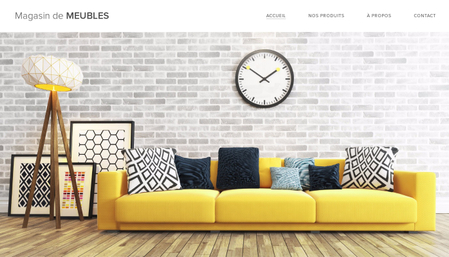 Template Magasin de meubles