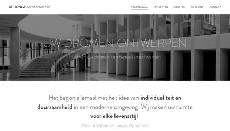 Sjabloon De Jonge Architecten