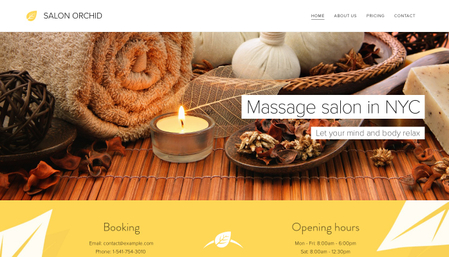 Massage Salon Template