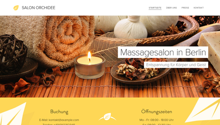 Vorlage Massagesalon