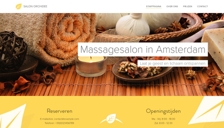 Massagesalon sjabloon