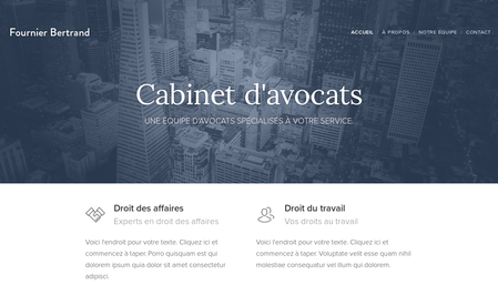 Template Cabinet d'avocats