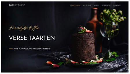 Café het Taartje sjabloon