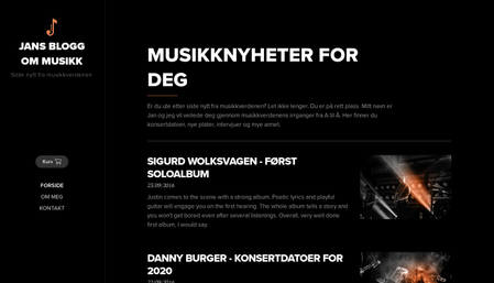 Mal for musikkblogg
