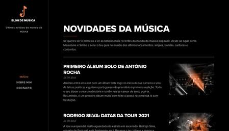 Modelo blog de música
