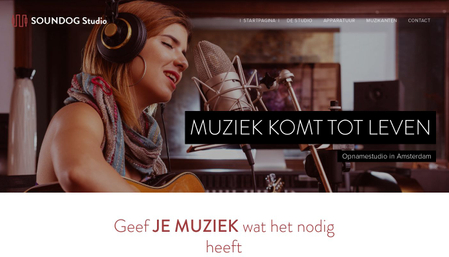 Muziekstudio sjabloon