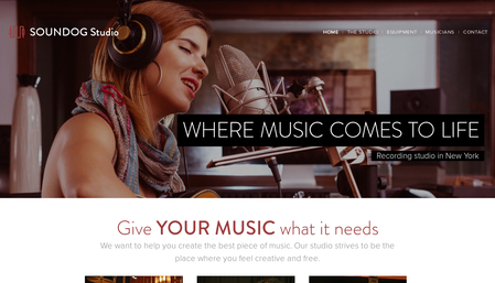 Music Studio Template