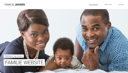 Sjabloon Familie website