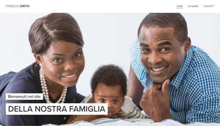 Modello - Sito famiglia