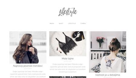Predložak: Lifestyle blog