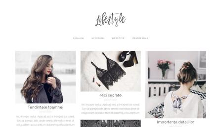 Șablon: Blog de lifestyle