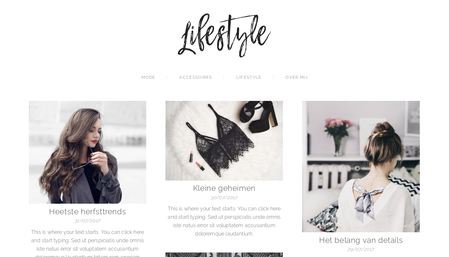 Lifestyle blog Sjabloon