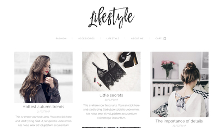 Lifestyle Blog Template