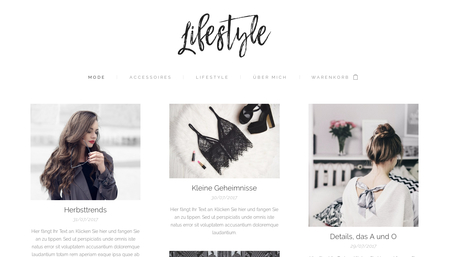 Vorlage Lifestyle Blog