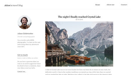 Travel blog template