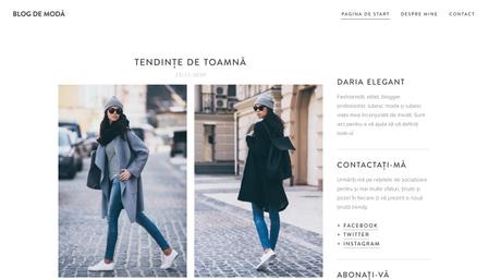 Șablon: Blog de modă