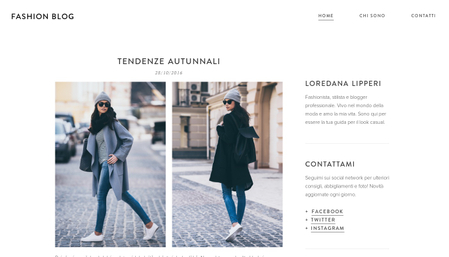 Modello - Fashion blog
