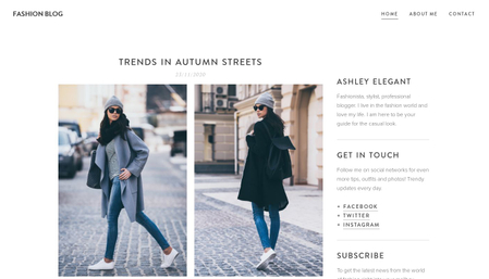 Fashion blog template