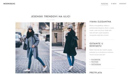 Predložak Modni blog