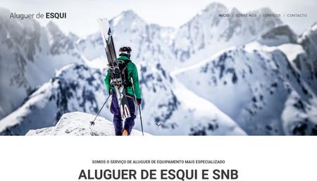 Template Aluguer de esqui