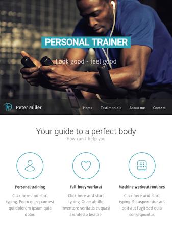 personal trainer template website template webnode