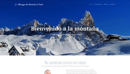 Plantilla - Hotel en la montaña