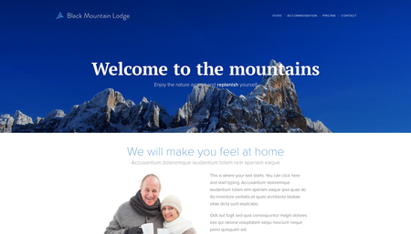Mountain Hotel Template