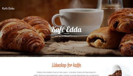 Mal for kafé Edda