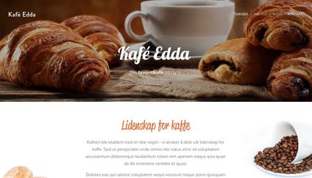 Mal for kafé Edda