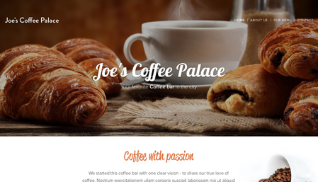 Template: Joe's Coffee Palace
