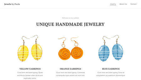 Handmade Jewelry Template