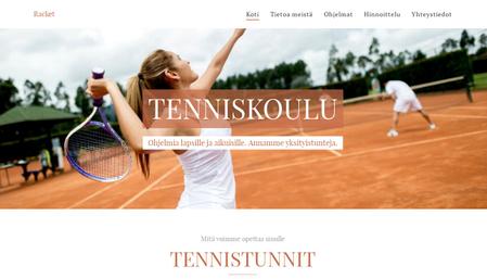 Sivupohja - Tenniskoulu
