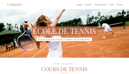 Template École de tennis