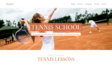Tennis School Template