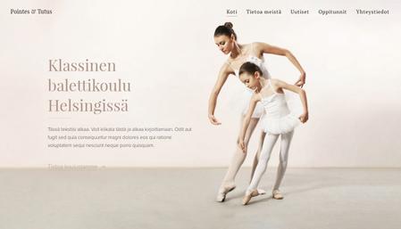 Sivupohja - Balettikoulu