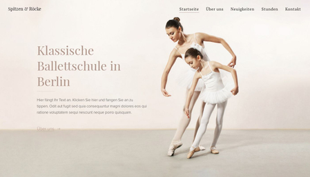 Vorlage Ballettschule
