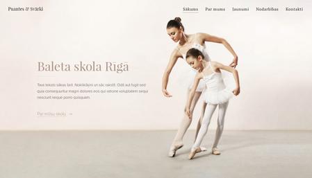Baleta skolas veidne
