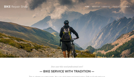 Bike Repair Shop Template